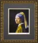 《名画》ミュージアムシリーズ(ジグレー版画) フェルメール「青いターバンの少女」