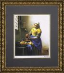 《名画》ミュージアムシリーズ(ジグレー版画) フェルメール「牛乳を注ぐ少女」