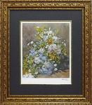 《名画》ミュージアムシリーズ(ジグレー版画) ルノワール「大きなかびんの花」