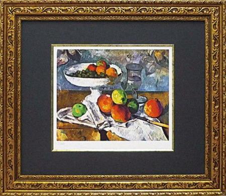 《名画》ミュージアムシリーズ(ジグレー版画) セザンヌ「果物ナイフのある静物」