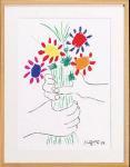 《名画》パブロ ピカソ 花束を持つ手