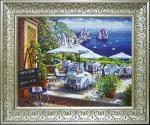 《絵画》地中海シリーズ サム パーク 「カプリテラス」