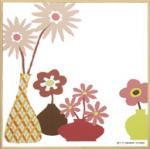 モダン キャンバスアート Y.P.デザイン スタジオ フラワーポットコレクション(ピンク,1)