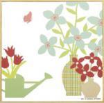 モダン キャンバスアート Y.P.デザイン スタジオ フラワーポットコレクション(ピンク,3)