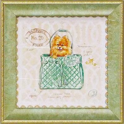 《ミニゲル アートフレーム》 チャド バレット 「ポメラニアン パピー パース」(ゆうパケット)