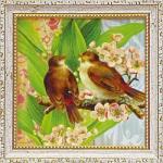 《ミニゲル アートフレーム》 ウォルター ロバートソン 「フィンチ&チェリー」(ゆうパケット)