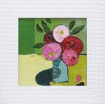 《絵画》フラワー コレクションアート ララ ボウエン 「ピンクのボタン」