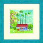 《水彩画・絵画》Harumi Kurinoki ハワイアンハウス