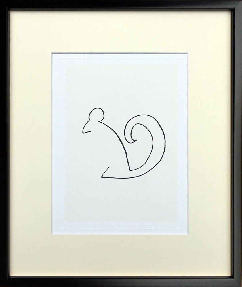 《アートフレーム》Pablo Picasso/パブロ・ピカソ L'Ecureuil(Silkscreen)