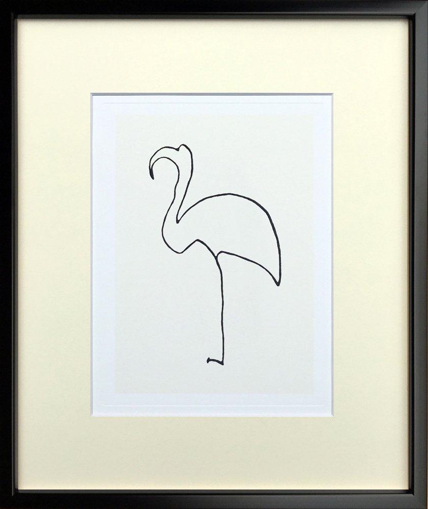 《アートフレーム》Pablo Picasso/パブロ・ピカソ Le flamand rose(Silkscreen)