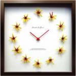 《掛け時計》Display Clock Pineapple Lily/yellow