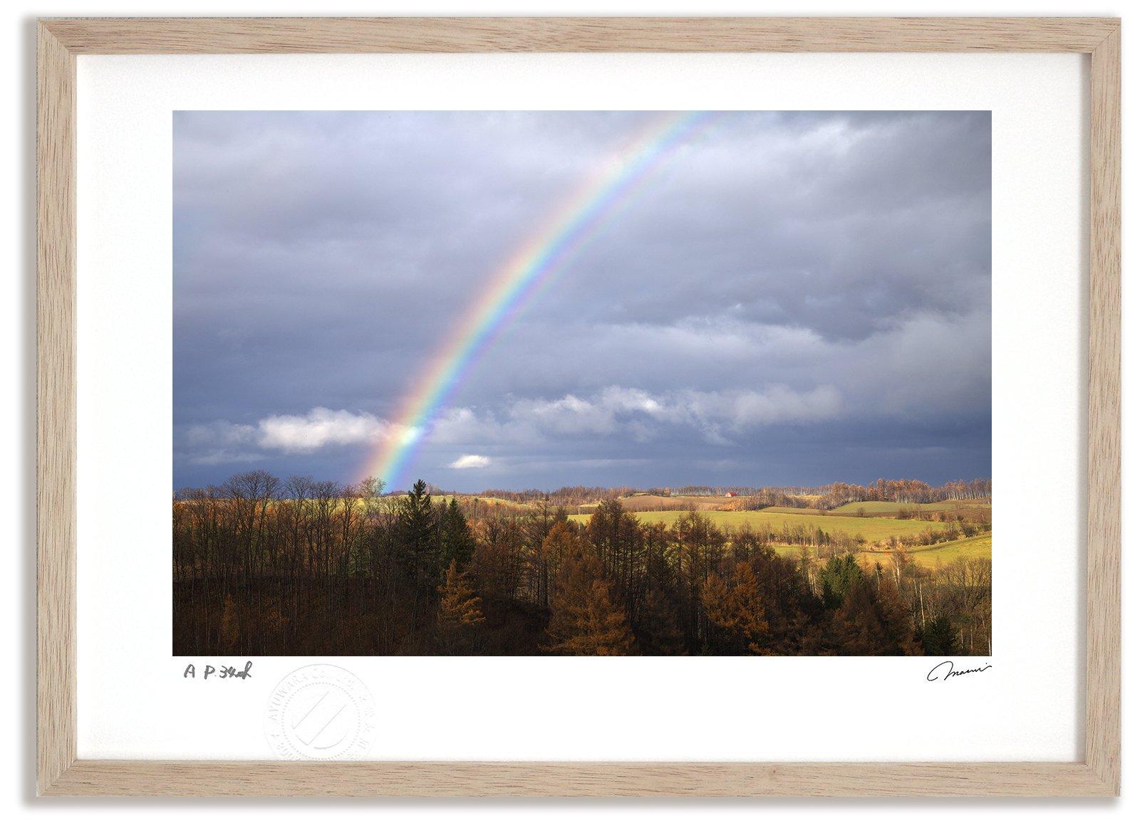 《アートフォト》虹の丘/上富良野町〔富良野・高橋真澄〕(レンタル対象)