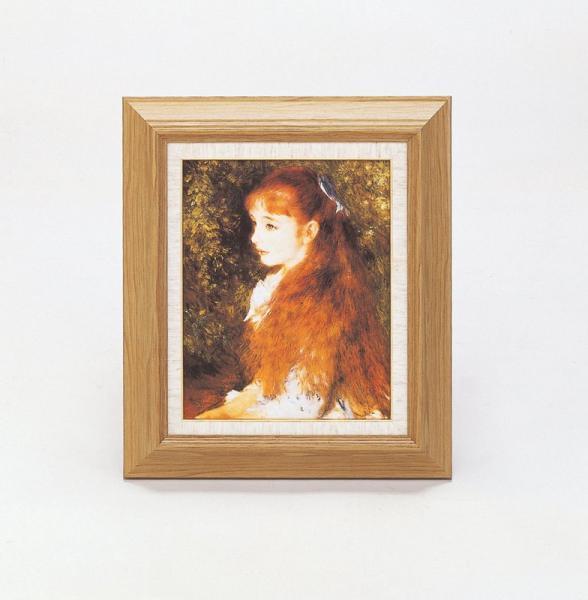 《名画》ルノワール名画額F3号 「可愛いイレーネ」