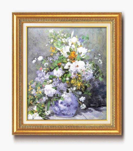 《名画》ルノワール名画額F10号 「花瓶の花」