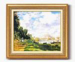 《名画》モネ名画額F10号 「アルジャントーユの停泊所」