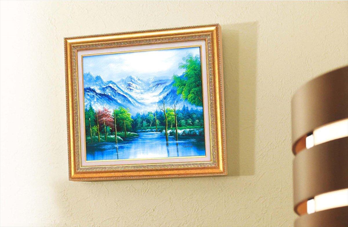 《手描き油絵》高木タケシ油絵額F10 「自然の調和」