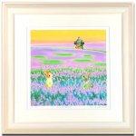 《水彩画・アートフレーム》Lavender〔栗乃木ハルミ くりのきはるみ 〕