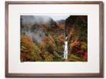 《アートフォトフレーム》シリタカ滝と紅葉した岩壁/白山スーパー林道〔白山・木村芳文〕