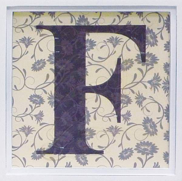 アルファベット アートフレーム F