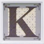 アルファベット アートフレーム K