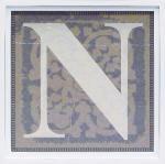 アルファベット アートフレーム N