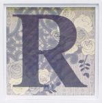 アルファベット アートフレーム R
