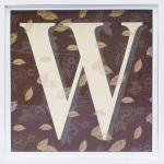 アルファベット アートフレーム W