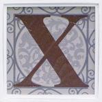 アルファベット アートフレーム X