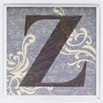 アルファベット アートフレーム Z