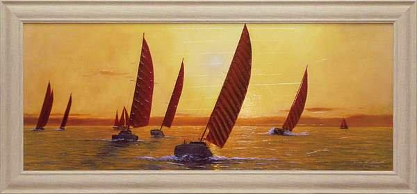 《絵画》ダイアン ロマネロ セイリング セイリング