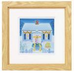 《水彩画》くりのき はるみ 版画(ジグレー) snowy home