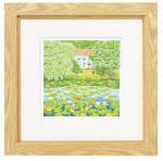 《水彩画》くりのき はるみ 版画(ジグレー) ヒツジグサの池