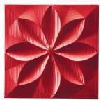 プラデック ウォール アート フローラル (メタルレッド) ●ポルトガル製