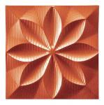 プラデック ウォール アート フローラル (メタルオレンジ) ●ポルトガル製