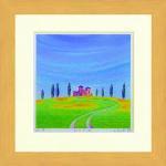 《水彩画》Harumi Kurinoki-S 丘の古城〔栗乃木ハルミ くりのきはるみ〕