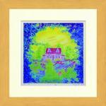 《水彩画》Harumi Kurinoki-S 小さい家〔栗乃木ハルミ くりのきはるみ〕