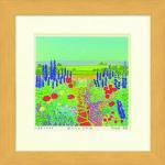 《水彩画》Harumi Kurinoki-S 庭からのながめ〔栗乃木ハルミ くりのきはるみ〕