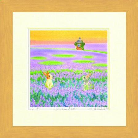 《水彩画》Harumi Kurinoki-S Lavender〔栗乃木ハルミ くりのきはるみ〕