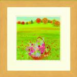 《水彩画》Harumi Kurinoki-S 秋の花かご〔栗乃木ハルミ くりのきはるみ〕