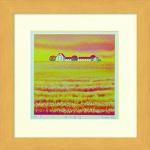 《水彩画》Harumi Kurinoki-S 秋の農場〔栗乃木ハルミ くりのきはるみ〕