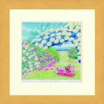 《水彩画》Harumi Kurinoki-S Rose garden〔栗乃木ハルミ くりのきはるみ〕