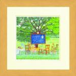 《水彩画》Harumi Kurinoki-S 木陰の教室〔栗乃木ハルミ くりのきはるみ〕