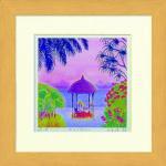 《水彩画》Harumi Kurinoki-S 浜のレストラン〔栗乃木ハルミ くりのきはるみ〕