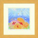 《水彩画》Harumi Kurinoki-S 海の花畑〔栗乃木ハルミ くりのきはるみ〕