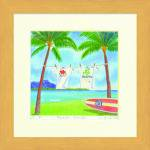 《水彩画》Harumi Kurinoki-S Beach Park〔栗乃木ハルミ くりのきはるみ〕