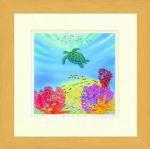 《水彩画》Harumi Kurinoki-S 海のおさんぽ〔栗乃木ハルミ くりのきはるみ〕