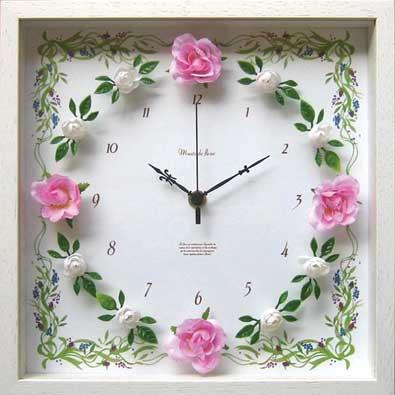 《時計》RoseGarden clock Pink(ローズガーデン クロック ピンク)