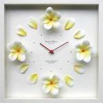 《時計》Plumeria Clock Yellow(プルメリア クロック イエロー)