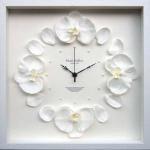 《時計》Orchid clock White(オーキッド/洋ラン クロック ホワイト)