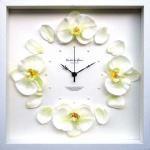 《時計》Orchid clock Yellow(オーキッド/洋ラン クロック イエロー)